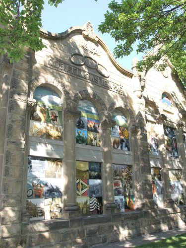 Image of Odd Fellows Temple Facade / Windows on the Past by Jeanne McMenemy